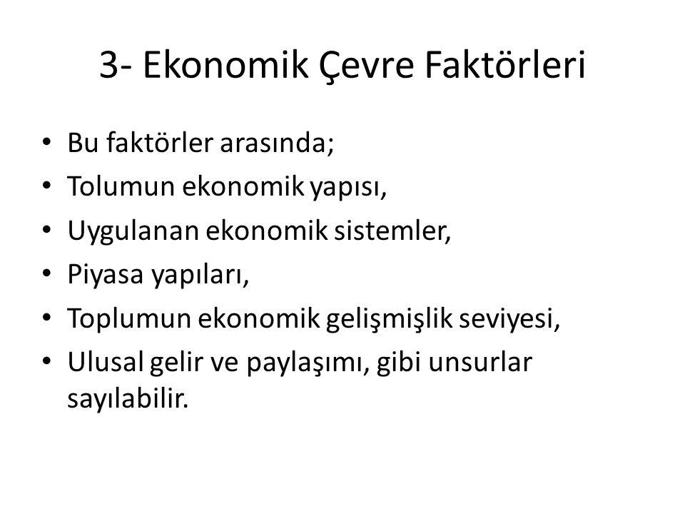 3- Ekonomik Çevre Faktörleri