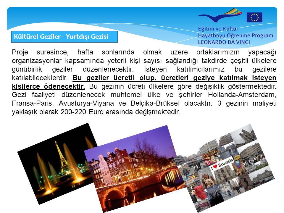 Kültürel Geziler - Yurtdışı Gezisi