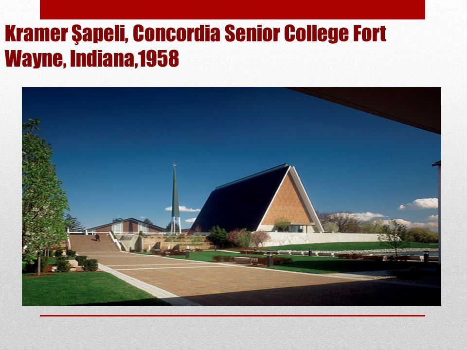 Kramer Şapeli, Concordia Senior College Fort Wayne, Indiana,1958