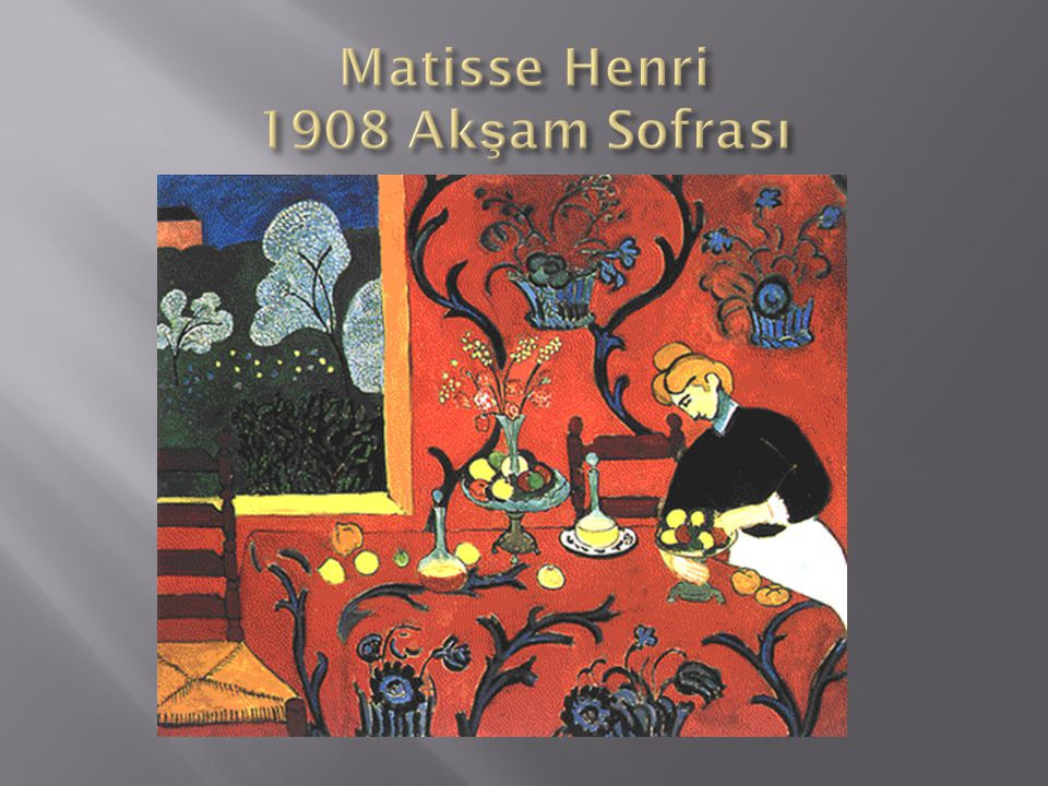 Matisse Henri 1908 Akşam Sofrası