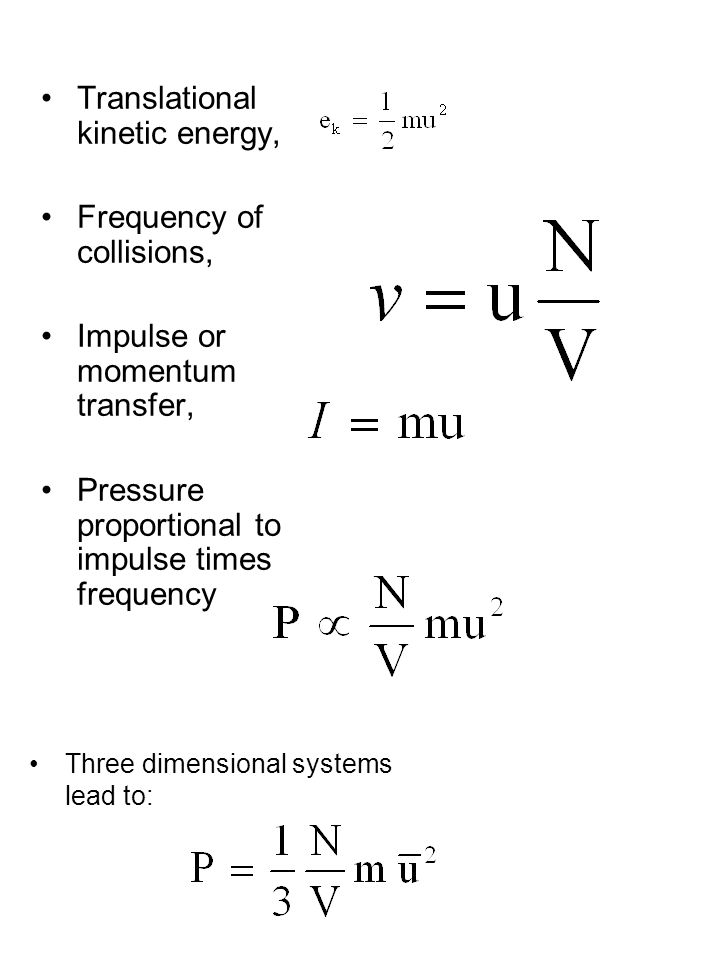 Translational kinetic energy,
