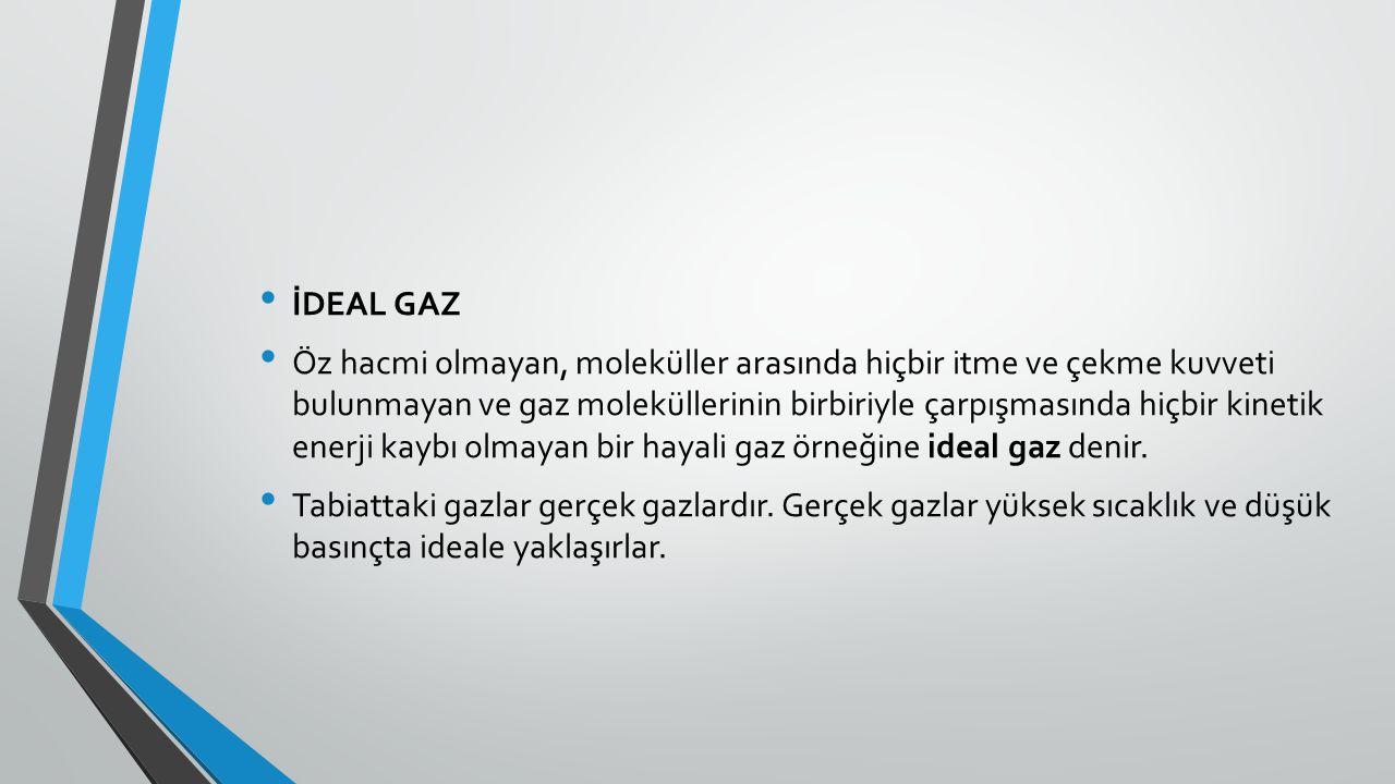 İDEAL GAZ