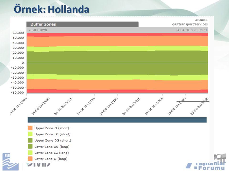 Örnek: Hollanda Bazı ülkelerde stok asgari ve azami seviyeleri saatlik olarak takip edilebilmekte.