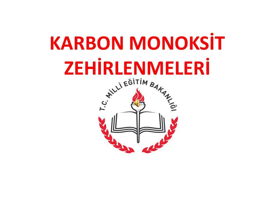 KARBON MONOKSİT ZEHİRLENMELERİ