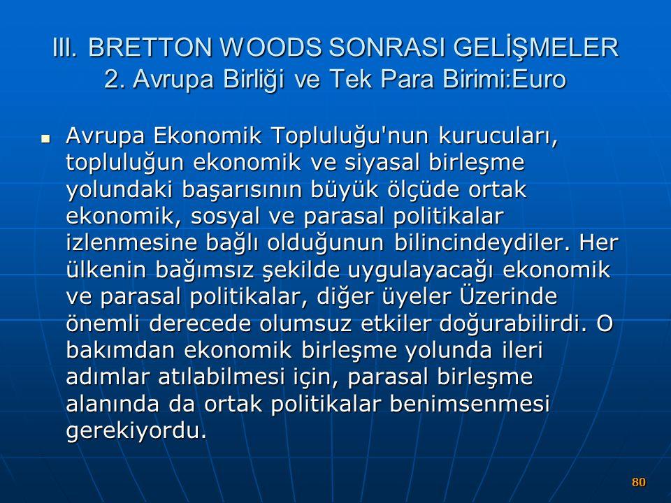 III. BRETTON WOODS SONRASI GELİŞMELER 2