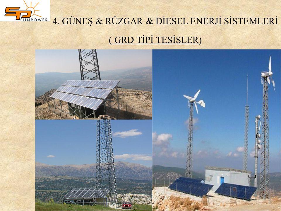 4. GÜNEŞ & RÜZGAR & DİESEL ENERJİ SİSTEMLERİ ( GRD TİPİ TESİSLER)