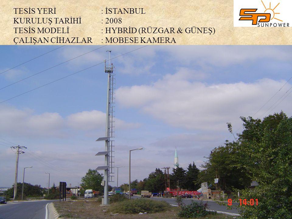 TESİS YERİ. : İSTANBUL KURULUŞ TARİHİ. : 2008 TESİS MODELİ