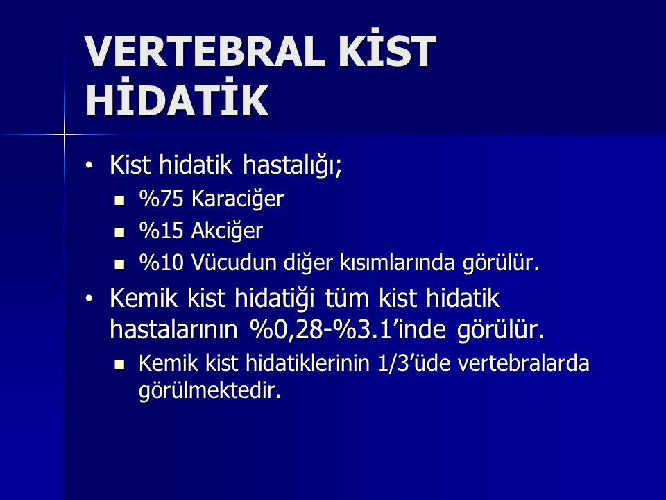 VERTEBRAL KİST HİDATİK
