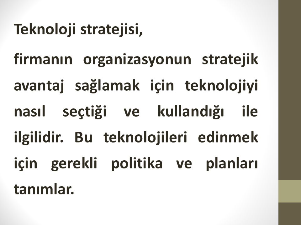 Teknoloji stratejisi,