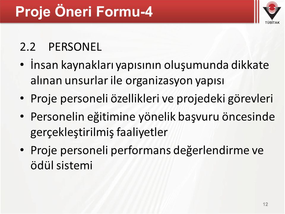 Proje Öneri Formu-4 2.2 PERSONEL