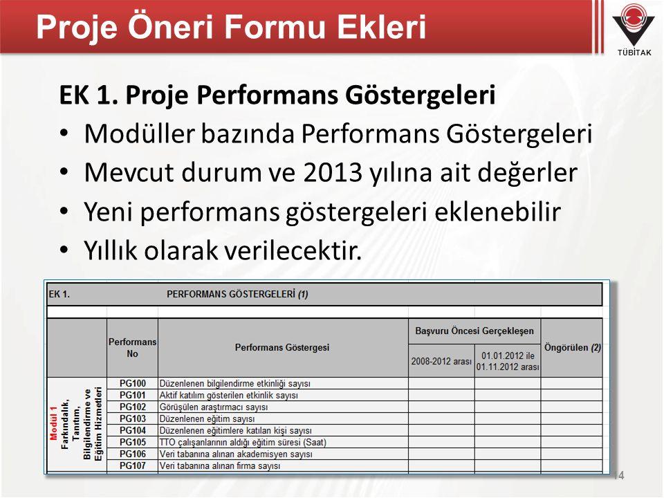 Proje Öneri Formu Ekleri