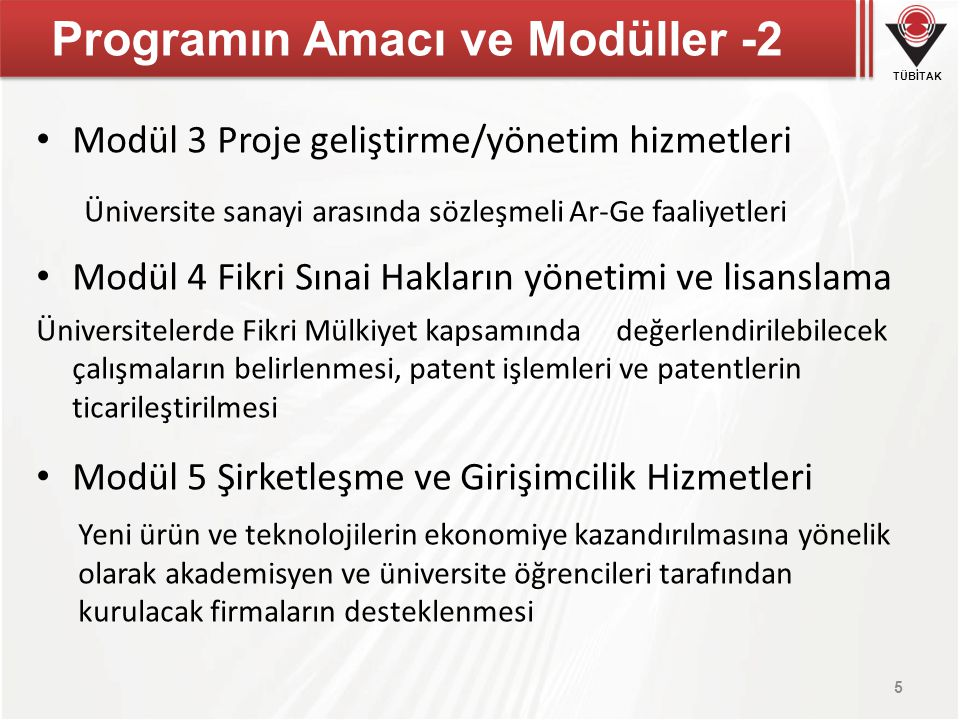 Programın Amacı ve Modüller -2