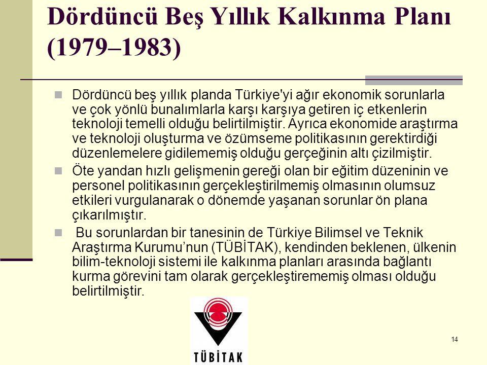 Dördüncü Beş Yıllık Kalkınma Planı (1979–1983)
