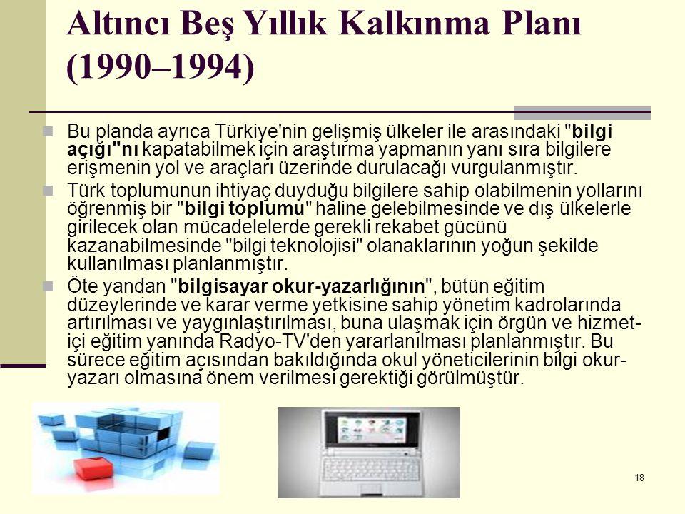 Altıncı Beş Yıllık Kalkınma Planı (1990–1994)