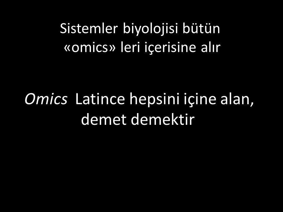 Omics Latince hepsini içine alan, demet demektir.