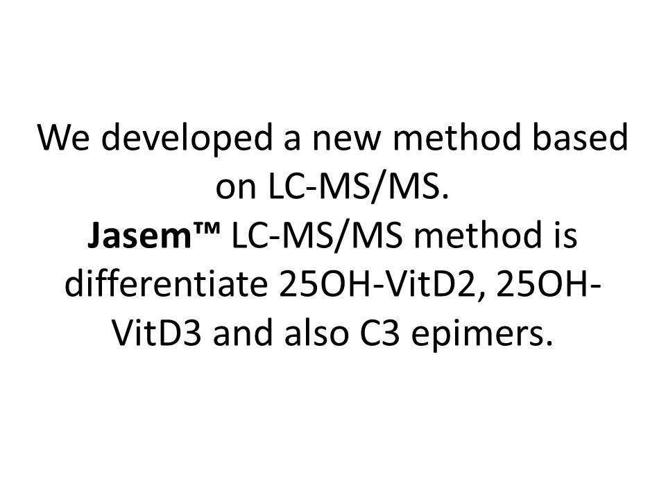 We developed a new method based on LC-MS/MS