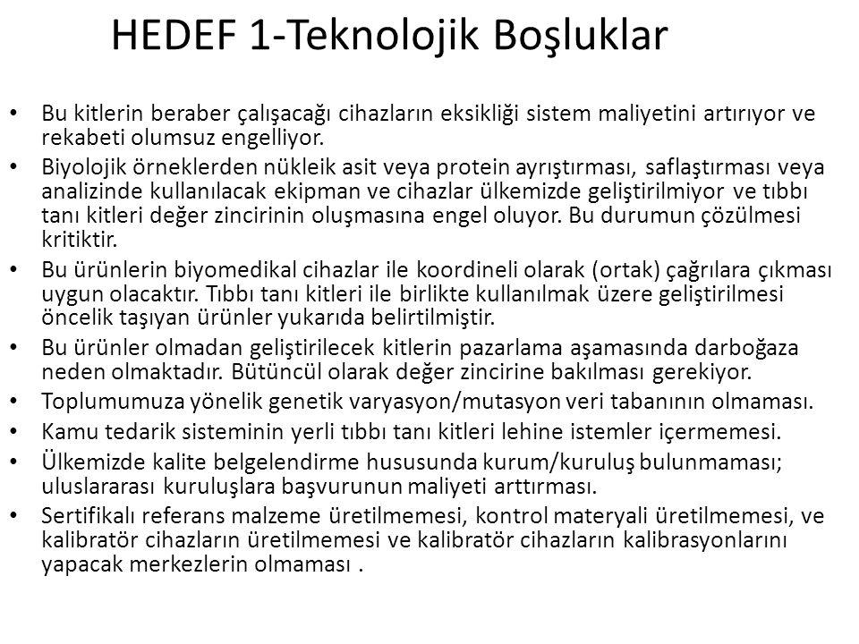 HEDEF 1-Teknolojik Boşluklar