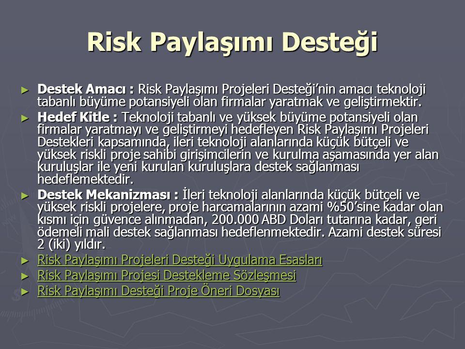 Risk Paylaşımı Desteği