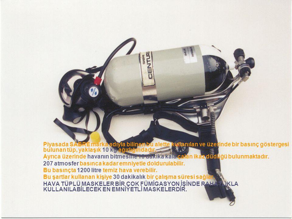 207 atmosfer basınca kadar emniyetle doldurulabilir.