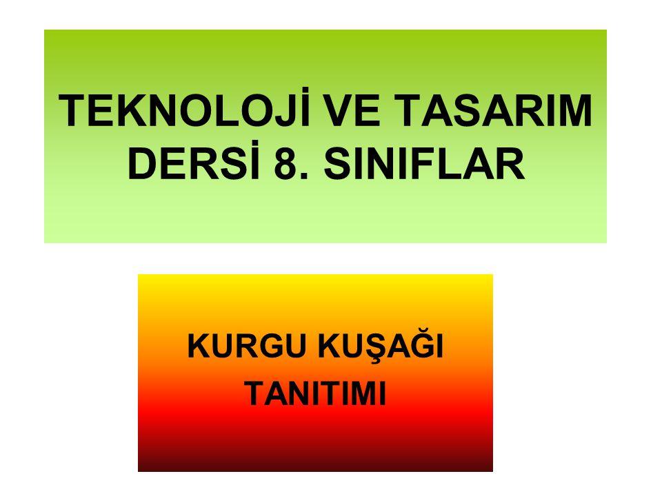 TEKNOLOJİ VE TASARIM DERSİ 8. SINIFLAR