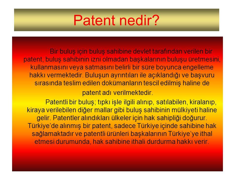 patent adı verilmektedir.