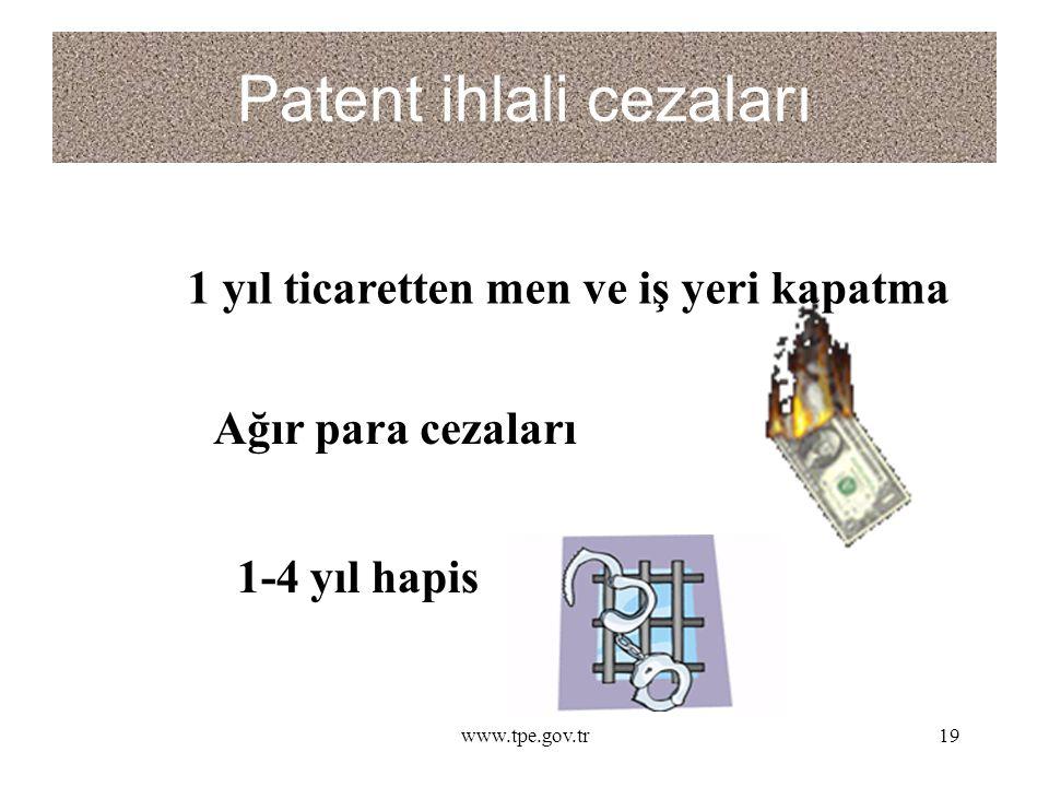 Patent ihlali cezaları