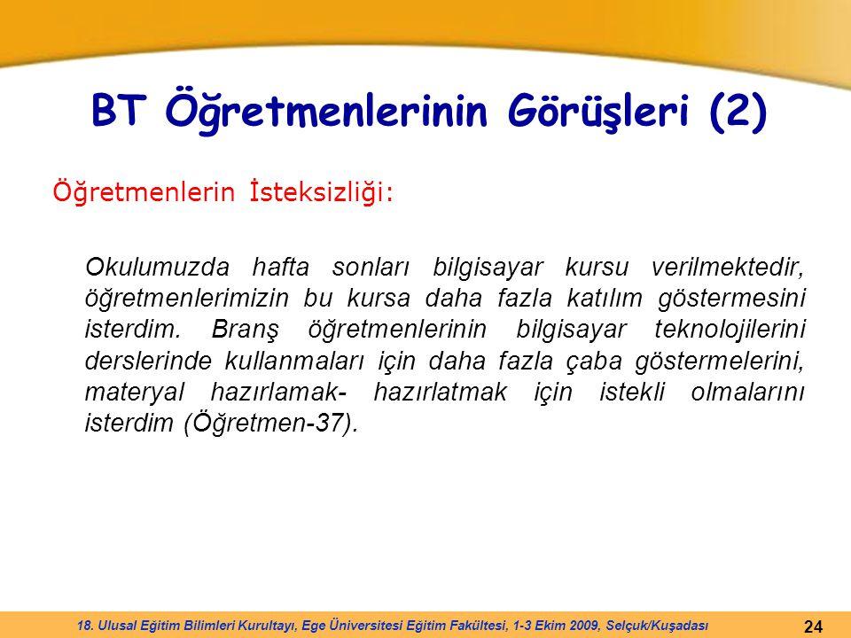 BT Öğretmenlerinin Görüşleri (2)