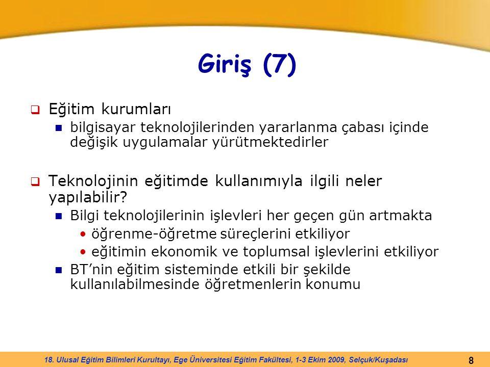 Giriş (7) Eğitim kurumları