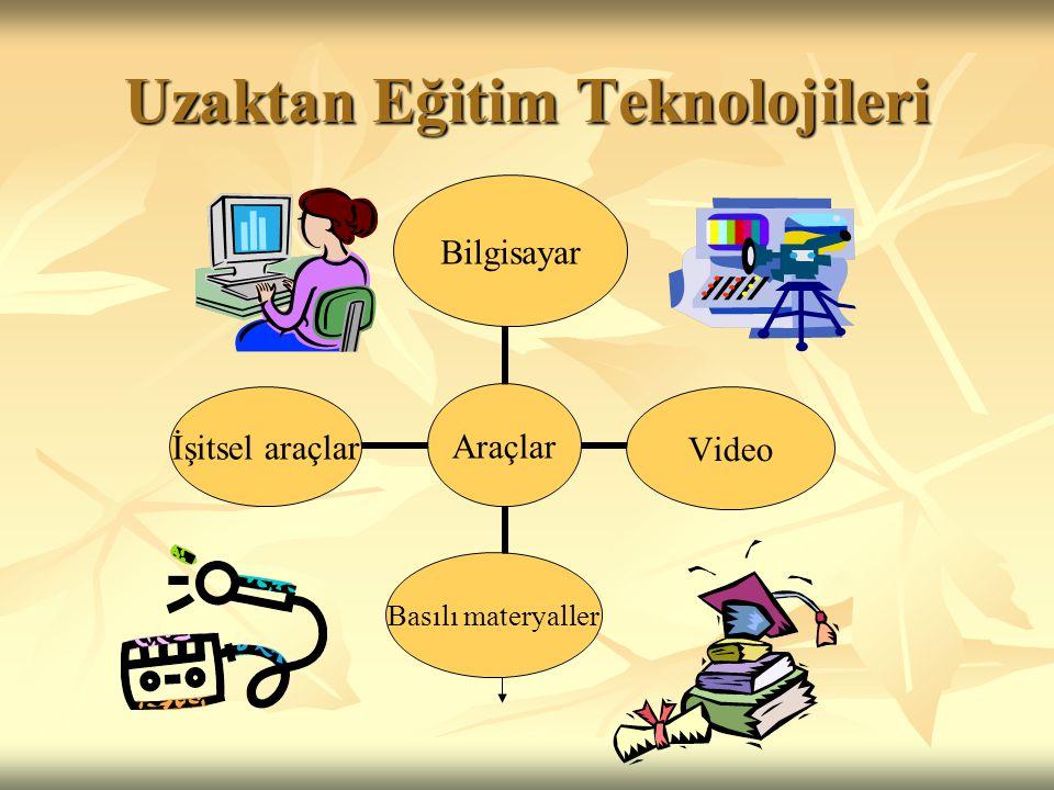Uzaktan Eğitim Teknolojileri