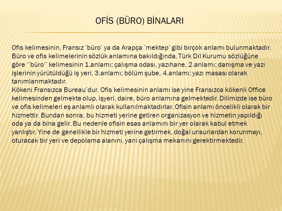 OFİS (BÜRO) BİNALARI