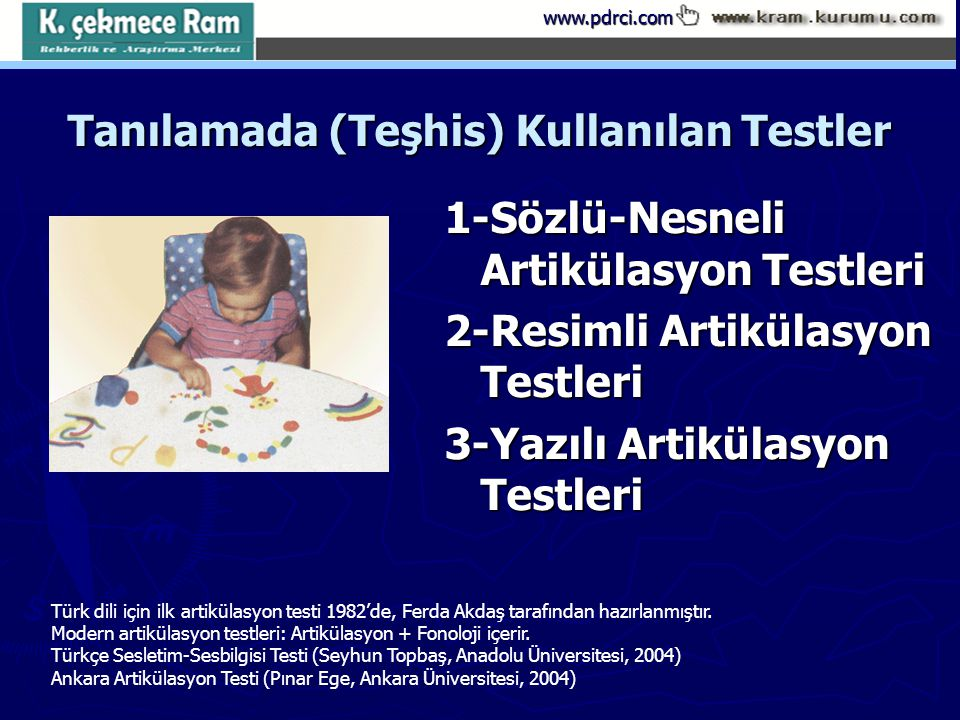 Tanılamada (Teşhis) Kullanılan Testler