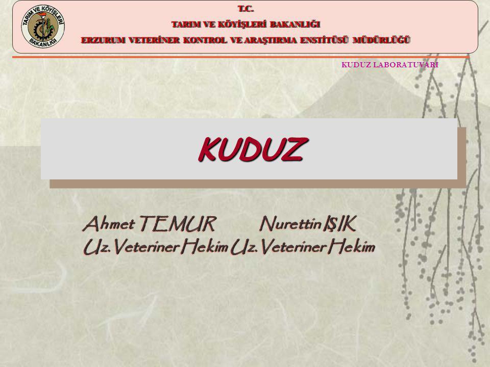 Ahmet TEMUR Nurettin IŞIK Uz.Veteriner Hekim Uz.Veteriner Hekim