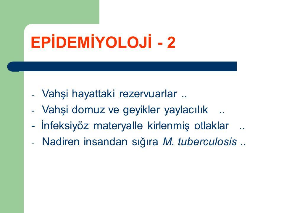 EPİDEMİYOLOJİ - 2 Vahşi hayattaki rezervuarlar ..