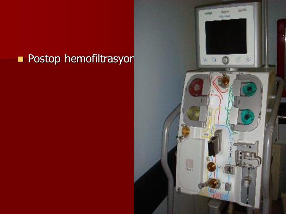 Postop hemofiltrasyon