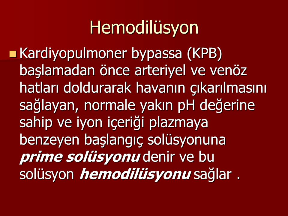 Hemodilüsyon