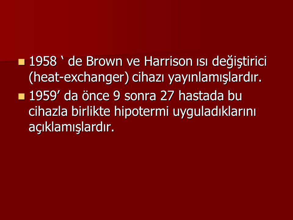 1958 ' de Brown ve Harrison ısı değiştirici (heat-exchanger) cihazı yayınlamışlardır.