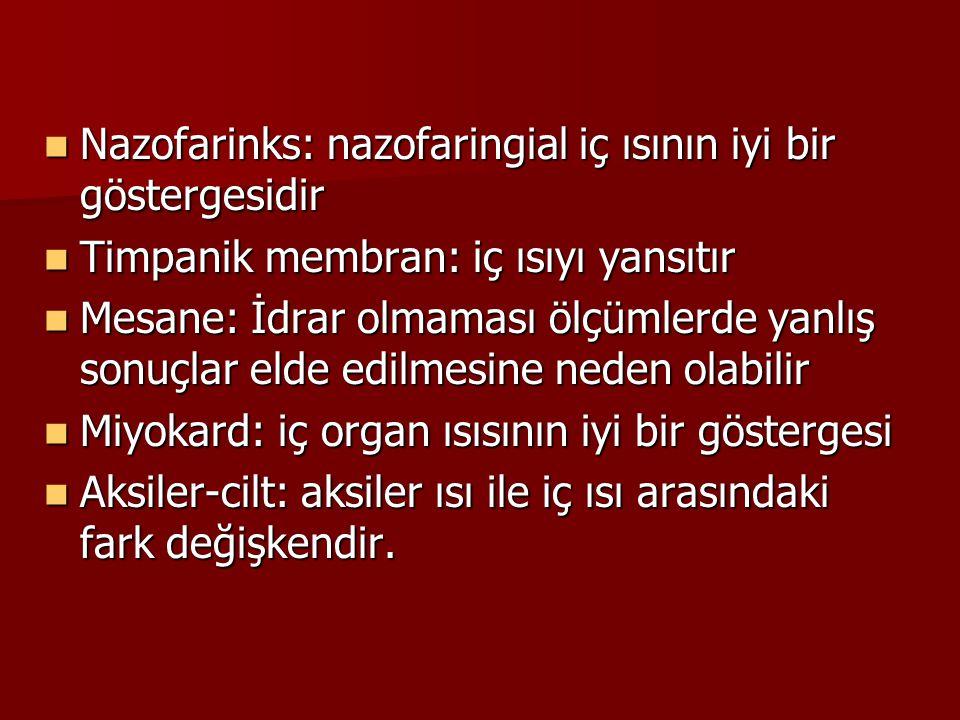 Nazofarinks: nazofaringial iç ısının iyi bir göstergesidir