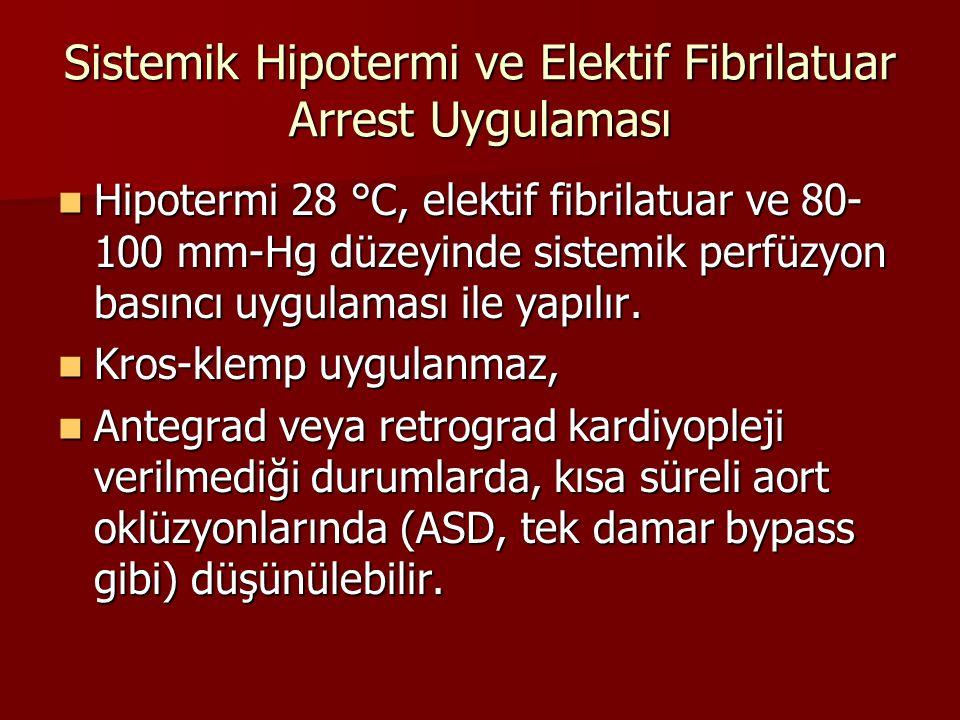 Sistemik Hipotermi ve Elektif Fibrilatuar Arrest Uygulaması