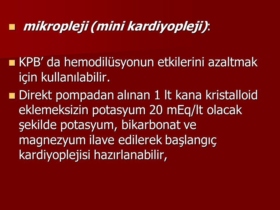 mikropleji (mini kardiyopleji):