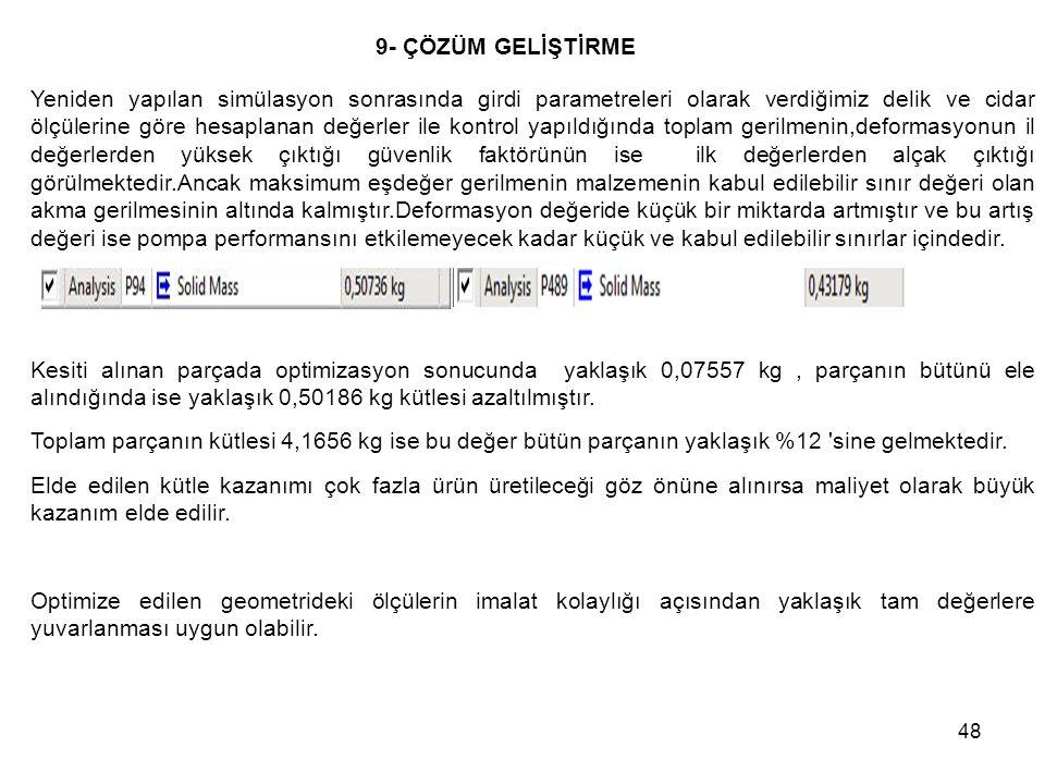 Femur Protezleri 13/05/09. 9- ÇÖZÜM GELİŞTİRME.