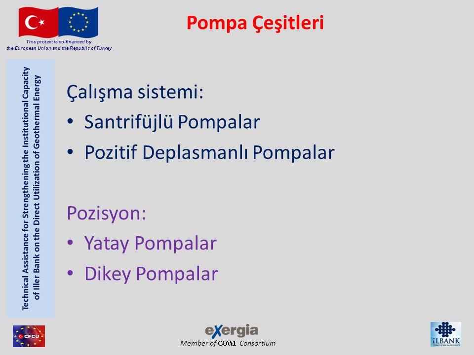 Pompa Çeşitleri Çalışma sistemi: Santrifüjlü Pompalar. Pozitif Deplasmanlı Pompalar. Pozisyon: Yatay Pompalar.