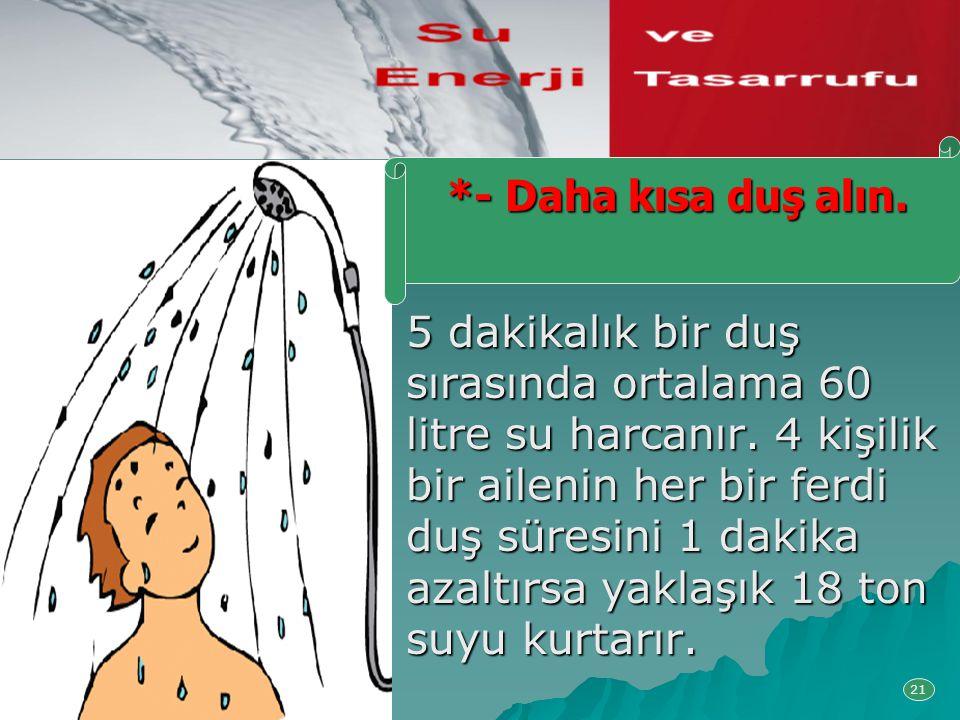 *- Daha kısa duş alın.