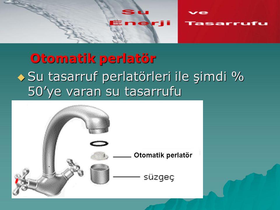 Otomatik perlatör Su tasarruf perlatörleri ile şimdi % 50'ye varan su tasarrufu mümkündür, Otomatik perlatör.