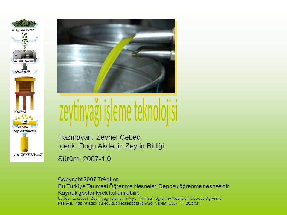 zeytinyağı işleme teknolojisi