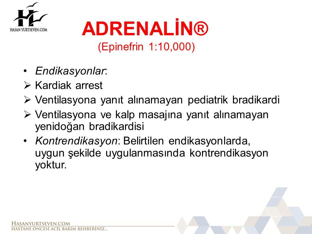 ADRENALİN® (Epinefrin 1:10,000)