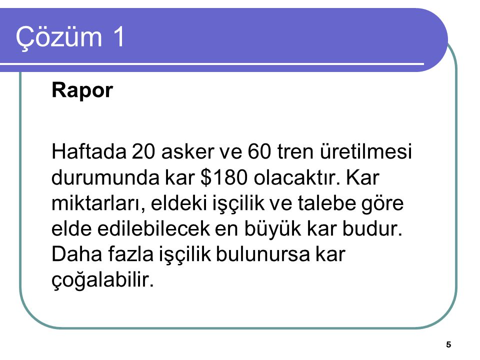 Çözüm 1 Rapor.