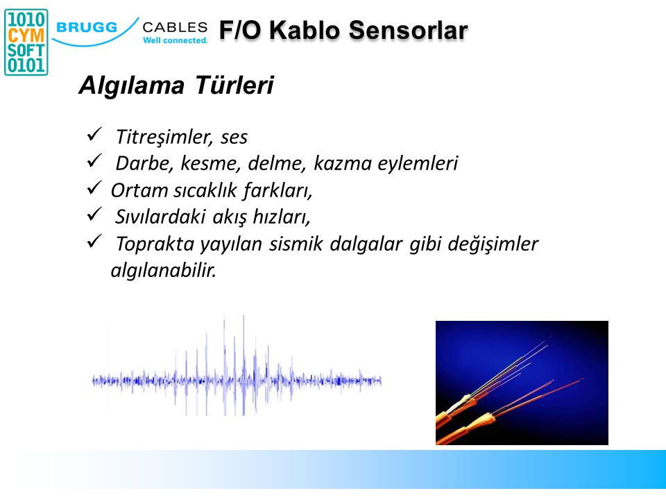 F/O Kablo Sensorlar Algılama Türleri Titreşimler, ses