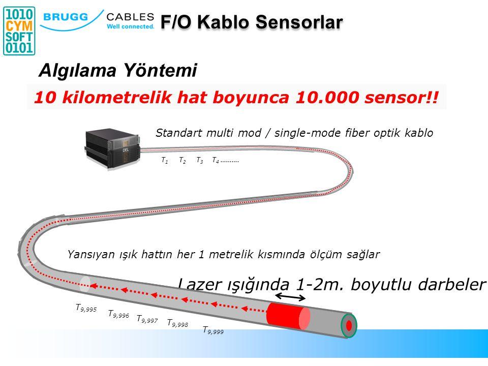 10 kilometrelik hat boyunca 10.000 sensor!!