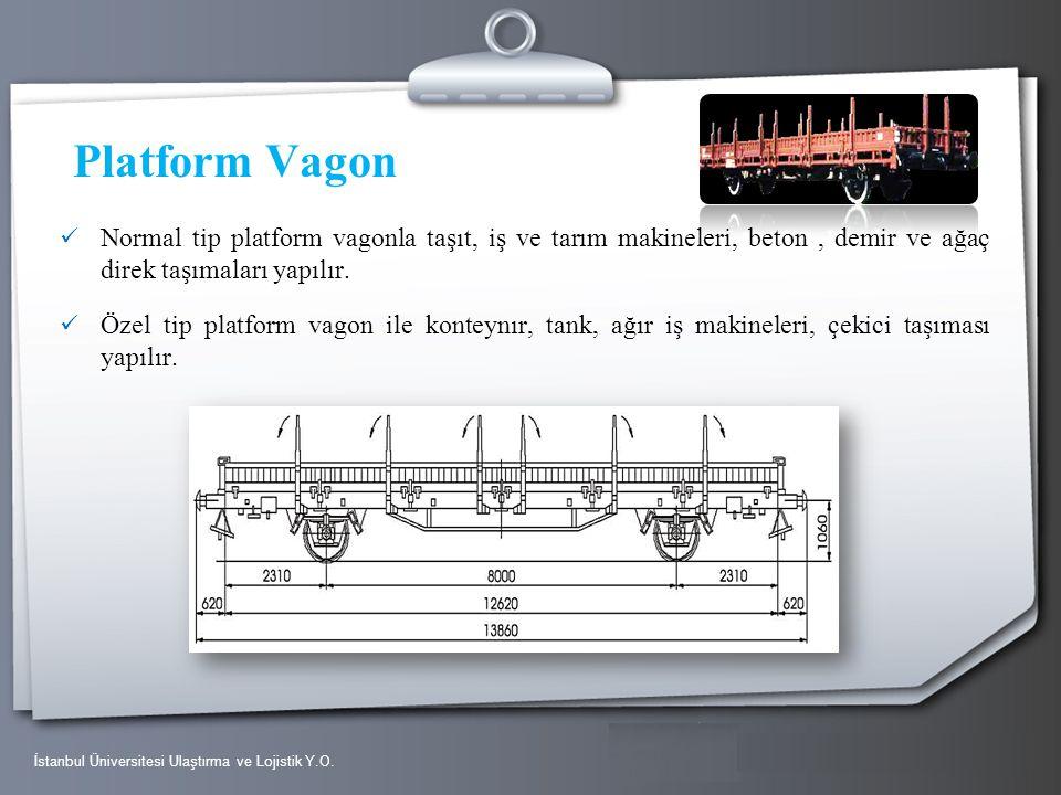 Platform Vagon Normal tip platform vagonla taşıt, iş ve tarım makineleri, beton , demir ve ağaç direk taşımaları yapılır.