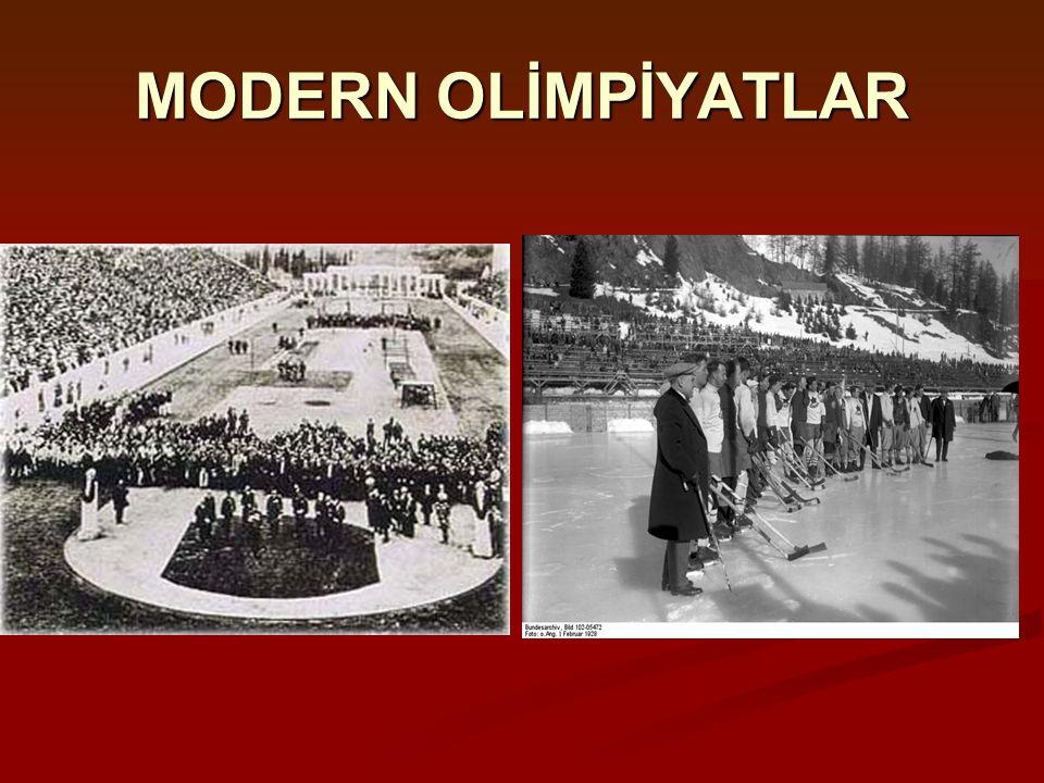 MODERN OLİMPİYATLAR